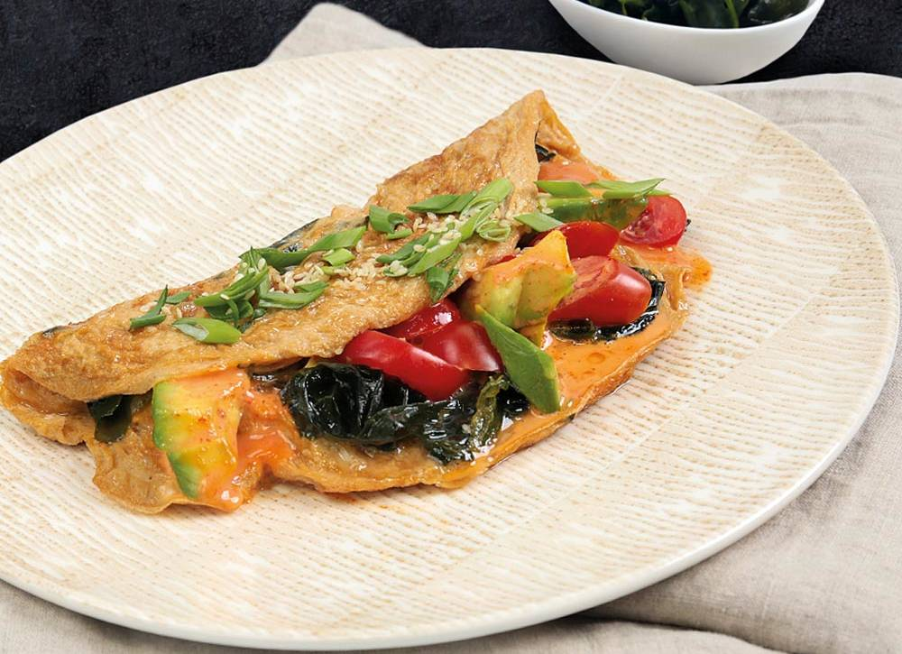 Omlet z wakame